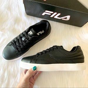 "Fila black ""Smokescreen Low"" fashion sneakers"